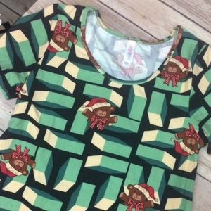 LuLaRoe Christmas Bears Holiday Classic Tee